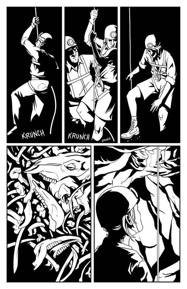 OFFERING, Issue 1: page 4 art by Kevin Warren